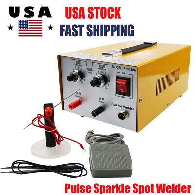 Pulse Sparkle Spot Welder 110V Jewelry Welding Machine Gold Silver Platinum