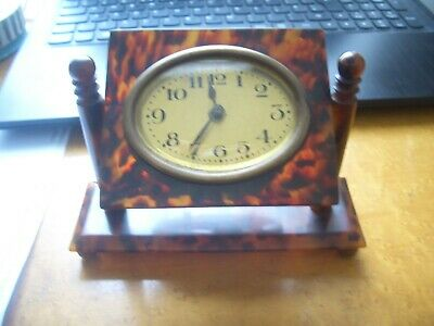 Stunning Art Deco  Portico/desk Clock  From A House Clearance Ex Antique Dealer