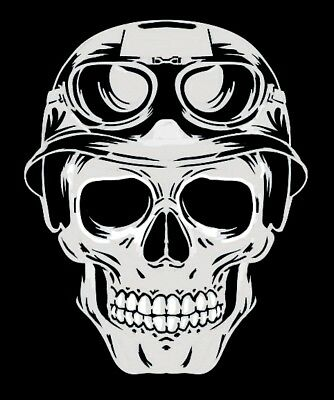 high detail airbrush stencil  skull helmet   FREE UK POSTAGE