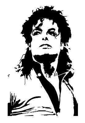 high detail airbrush stencil jacko FREE UK POSTAGE