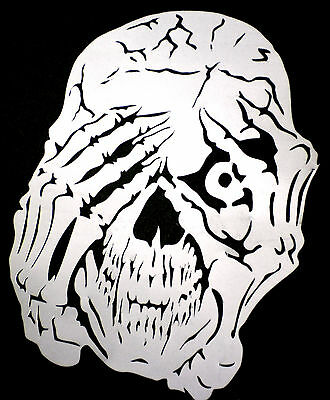 high detail airbrush stencil  peeping  skull   FREE UK POSTAGE