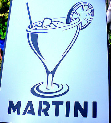 high detail airbrush stencil martini two FREE UK POSTAGE