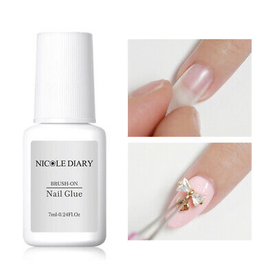 NICOLE DIARY 7ml Nail Glue for Dipping Rhinestone Clear Multi-function Tools