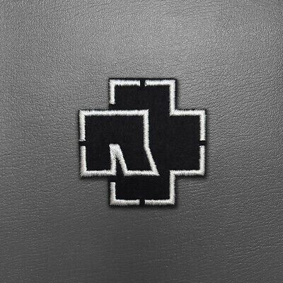 Rammstein Logo Small Embroidered Biker Patch Iron on/Sew on #b089