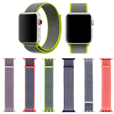 Apple Watch Nylon Armband Sport Loop Uhren Band Serie 4/3/2/1 38/42mm 40/44mm