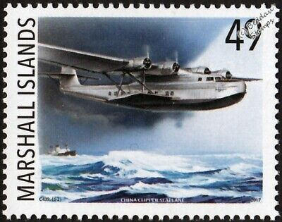 Pan Am MARTIN M-130 China Clipper NC14716 Flying Boat Seaplane Aircraft Stamp #2