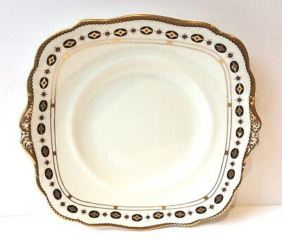 Paragon Star White Art Deco vintage English China Afternoon tea cake plate