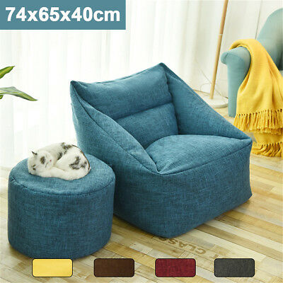 2019 Large Bean Bag Chair Sofa Cover Indoor/Outdoor Gamer Beanbag For Adult Kids