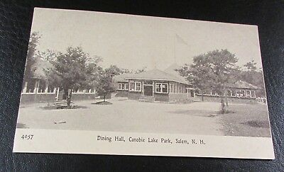 Old Postcard[Early 1900]<CANOBIE LAKE PARK, N.H.>{ THE DINING HALL}