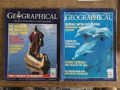 Geagraphical magazines august 1998 and September 1998