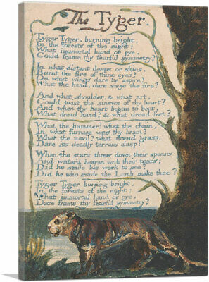 ARTCANVAS The Tyger - Plate 36 Canvas Art Print by William Blake