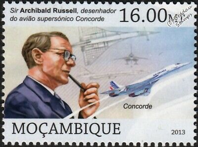 Air France CONCORDE & Aircraft Designer Sir Archibald Russell Stamp (2013)