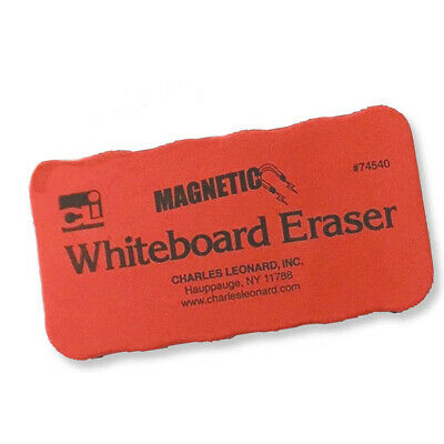 Charles Leonard - 4x2 Red Magnetic Whiteboard Erasers - 12 Pack