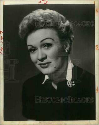 1957 Press Photo Actress Eve Arden of KGUL-TV - hcp21033