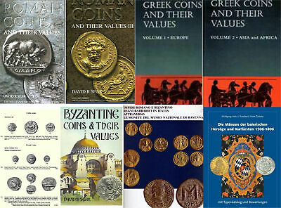 Ancient & Medieval Coins - 80 books and catalogs READ DESCRIPTION