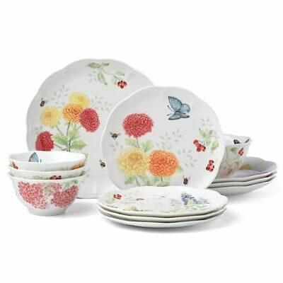 Butterfly Meadow Harvest 12 piece Dinnerware Set by Lenox