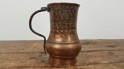 Antique Georgian Copper Cup Mug Beaker Drinking Vessel Scottish Made
