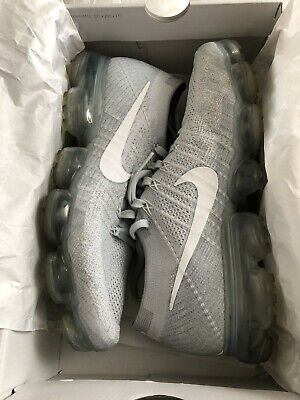 Nike Air Vapormax Flyknit Pure Platinum Grey White 849558-004 Mens Size 10
