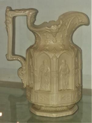 Gothic Charles Meigh Crisply Moulded 'Apostles' Drabwear Water Jug C 1842