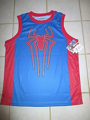 2f2494d9e9f SPIDERMAN BASKETBALL JERSEY NEW sleeveless NWT men's mens L spider ...
