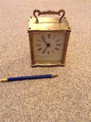 Brass Clockwork Carriage Clock French