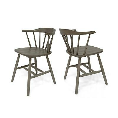 Ahart Farmhouse Spindle Back Rubberwood Dining Chairs (Set of 2) by Christopher