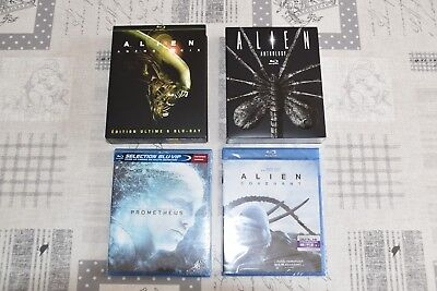 Lot 8 Blu-Ray L'integrale Alien Anthologie + Prometheus + Covenant Neuf