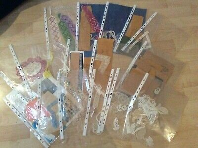 Collection Of Bobbin Lace Patterns Prickings Lace Making Hand Made Swatches