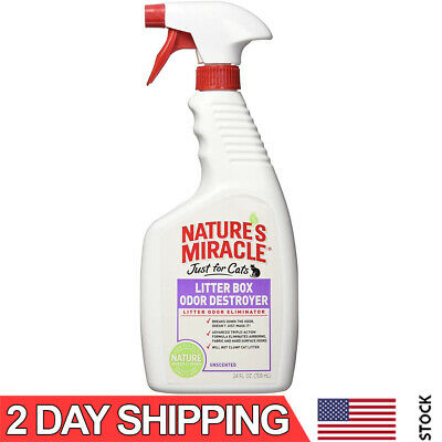 Nature's Miracle Just for Cats Litter Box Odor Destroyer, Unscented, 24 oz Spray