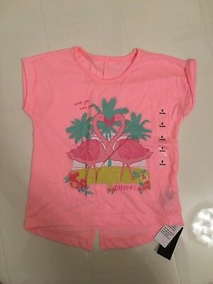 New Dunnes Store Pink Flamingo Design T-Shirt Age 6 Yrs