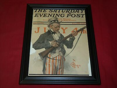 1916 July 1 Saturday Evening Post Framed Leyendecker Front Cover - Independence