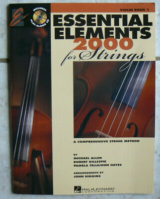 Essential Elements 2000 for Strings,VIOLIN, Book 1 One & NEW CD! Hal Leonard