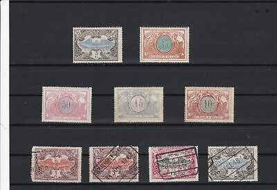 belgium railway parcels mounted mint & used stamps ref r12082