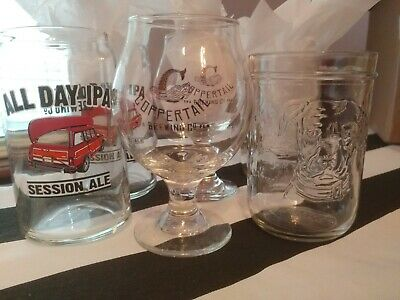 Lot Of Craft Beer Glasses, 3 Pairs + 1