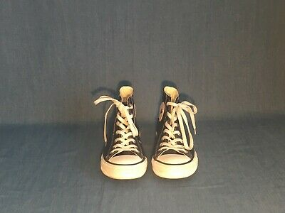 Converse Leather Navy High Tops Unisex Mens 5, Womens 7, UK 5