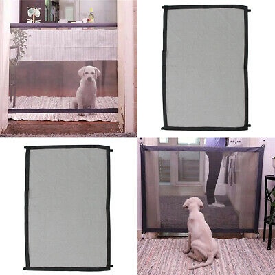 2pcs Folding Mesh Magic Pet Dog Gate Pet Dog Cat Safety Isolated Enclosure