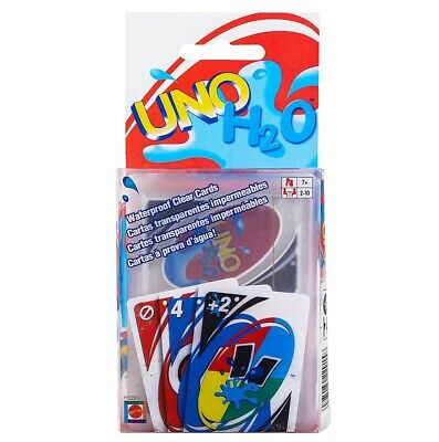 UNO H2O Game Playing Card Waterproof Clear Table Game