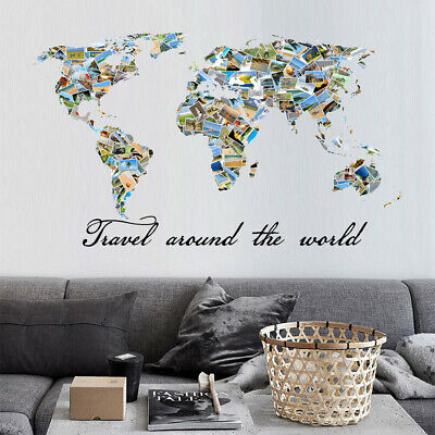 A Man Travels the World Over in Search of Home Family Vinyl Wall Decal Art I23