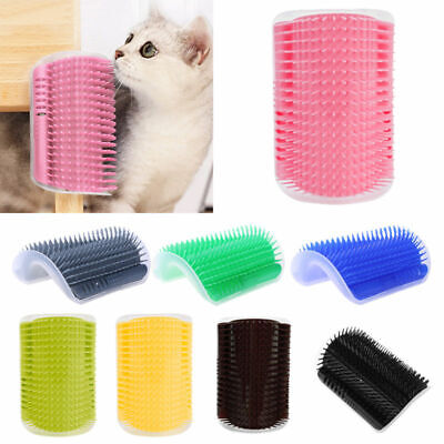 Cat Brush Comb Rubs Groomer Self Tickling Wall Corner Massage Grooming Catnip