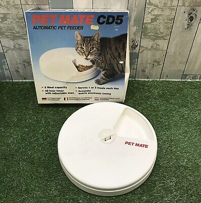 PETMATE CATMATE CD5 Automatic Cat Or Small Dog Feeder 5 Meals Timer - C50