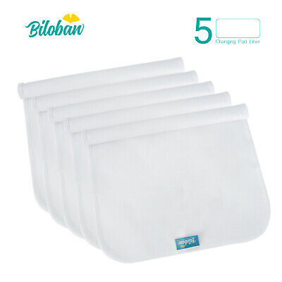 Infant Soft 100% Cotton Baby Diaper Changing Pad Cover Liner Waterproof 5 Pack