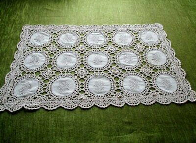 Pretty Tray Cloth Hand Embroidery & Hand Crochet