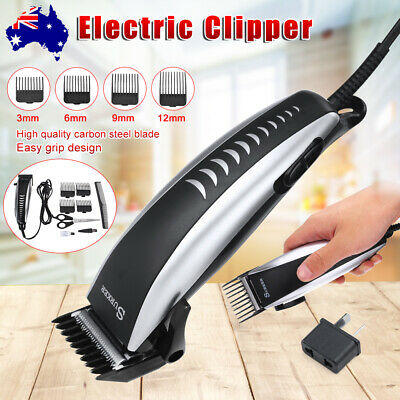 Electric Mens Hair Cut Comb Clipper Beard Trimmer Cutting Razor Shaver Grooming