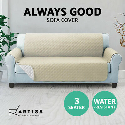 Couch Covers 3 Seaters Water Repellent Lounge Protector Pet Sofa Dog Microfiber