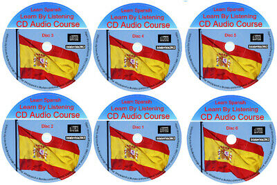 Learn To Speak Spanish By Listening Language Course For Beginners 6 Audio CD Set