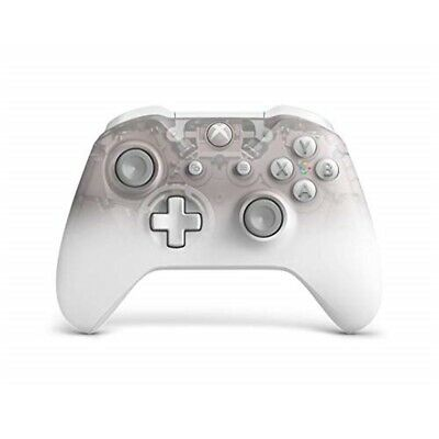 Microsoft Official Xbox One S Wireless Controller - Phantom White (xbox One)