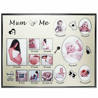 Mum & me collage photo frame for pregnancy and birth pictures
