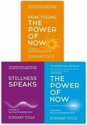 The Power of Now Eckhart Tolle 3 Books A Guide to Spiritual Enlightenment, Pract