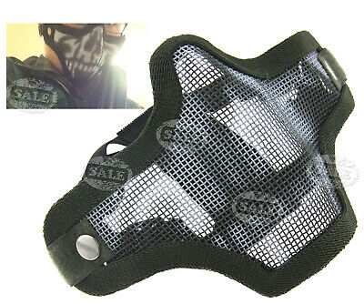Airsoft Paintball Mask Tactical Ghost Mesh Half Face Protection Mask