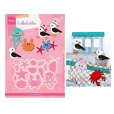 Eline's Seagull Friends Metal Die Cuts Marianne Cutting Dies Crab Bird Jellyfish